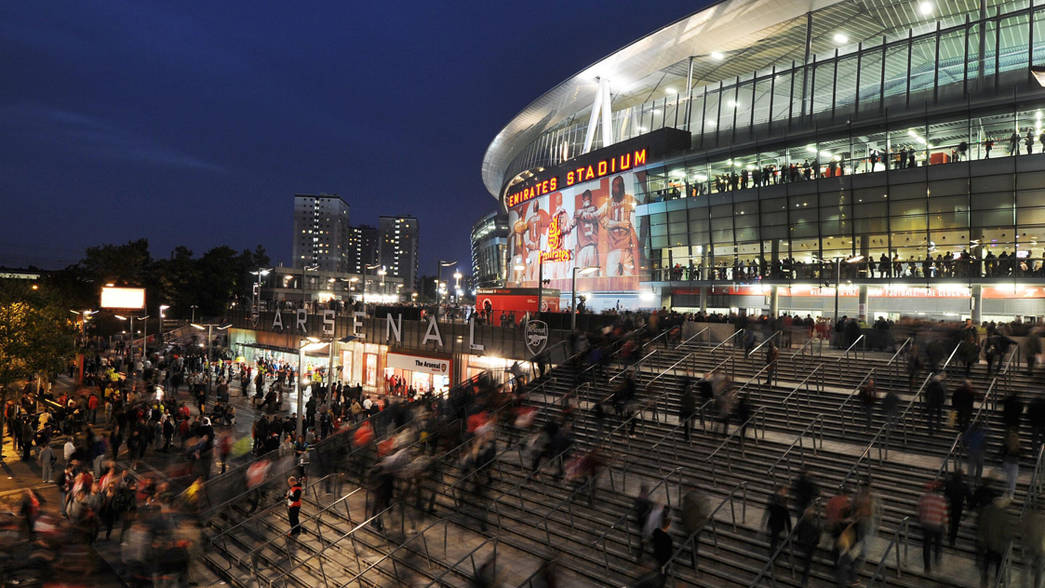Emirates Stadium long exposure
